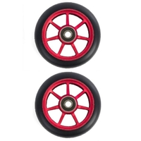 ETHIC SCOOTER WHEELS SET OF 2 WITH BEARINGS - INCUBE - RED - 110MM