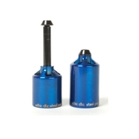 ETHIC CHROMOLY SCOOTER PEGS X 2 WITH AXLES AND SPACERS - BLUE