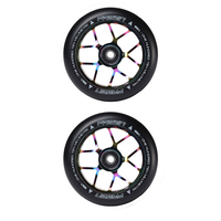 FASEN SCOOTER WHEELS PAIR - 110MM - JET - OILSLICK / NEOCHROME
