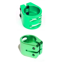 FASEN RAVEN SCOOTER DOUBLE CLAMP - GREEN - STANDARD SIZE