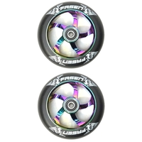 FASEN SCOOTER WHEELS PAIR - RAVEN - 110MM - OIL SLICK NEOCHROME