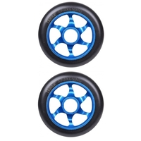 FLAVOR AWAKENING 110MM SCOOTER WHEEL SET OF 2 WITH BEARINGS - BLACK BLUE