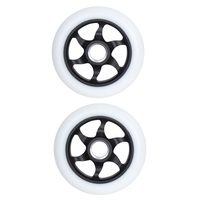 FLAVOR AWAKENING 110MM SCOOTER WHEEL SET OF 2 WITH BEARINGS - BLACK WHITE