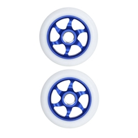 FLAVOR AWAKENING 110MM SCOOTER WHEEL SET OF 2 WITH BEARINGS - BLUE WHITE