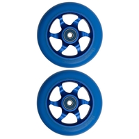 FLAVOR AWAKENING 110MM SCOOTER WHEEL SET OF 2 WITH BEARINGS - BLUE BLUE