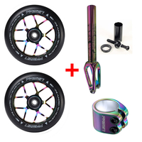 FASEN 110MM NEOCHROME WHEELS + CLAMP + FORK COMBO PACK