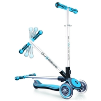 GLOBBER MY FREE FOLD UP SCOOTER 3 WHEEL - SKY BLUE
