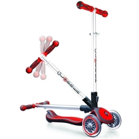 GLOBBER MY FREE FOLD UP SCOOTER 3 WHEEL - RED