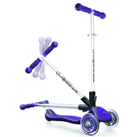 GLOBBER MY FREE FOLD UP SCOOTER 3 WHEEL - PURPLE