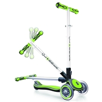 GLOBBER MY FREE FOLD UP SCOOTER 3 WHEEL - GREEN
