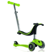 GLOBBER KIDS MINI KICK SCOOTER 3 WHEEL - GREEN - 4 IN 1 BIKE, TRIKE, SCOOTER