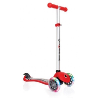GLOBBER MY FREE FANTASY SCOOTER 3 WHEEL - LED WHEELS - RACING RED