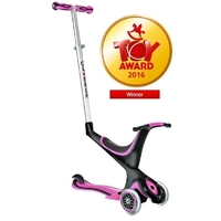 GLOBBER KIDS MINI KICK SCOOTER 3 WHEEL - PINK - 5 IN 1 - BIKE TRIKE SCOOTER