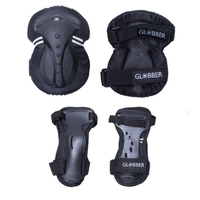 GLOBBER PROTECTIVE PAD SET - TRI PACK - ADULT EXTRA LARGE - BLACK