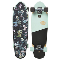 GLOBE CRUISER SKATEBOARD COMPLETE - BIG BLAZER BLACK SKY SHROOMS