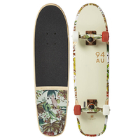 GLOBE CRUISER SKATEBOARD COMPLETE - BRUISER - OFF WHITE JUNGLE