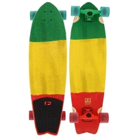GLOBE CRUISER SKATEBOARD COMPLETE - CHROMANTIC RASTA FLAG