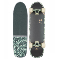 GLOBE CRUISER SKATEBOARD COMPLETE - FAT BRUISER - BLACK MONSTERA