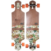 GLOBE LONGBOARD SKATEBOARD COMPLETE - GEMINON DARK MAPLE JUNGLE