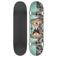 GLOBE SKATEBOARD COMPLETE - GONE TOMORROW BLEACHED BLUE