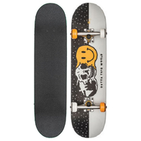 "GLOBE SKATEBOARD COMPLETE - OUTTA THIS WORLD 7.625"" - WHITE / BLACK"