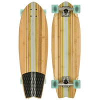 GLOBE CRUISER SKATEBOARD COMPLETE - PIN CITY BAMBOO CLEAR WATER GREEN