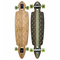 GLOBE LONGBOARD SKATEBOARD COMPLETE - PINNER DROP THROUGH - BAMBOO PINEAPPLE