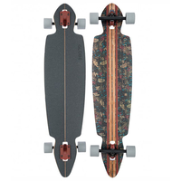 GLOBE LONGBOARD SKATEBOARD COMPLETE - PINNER DROP THROUGH - BROWN LEAVES