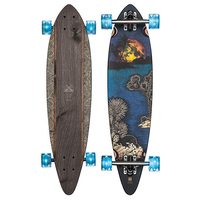 GLOBE LONGBOARD SKATEBOARD COMPLETE - PINTAIL - MOONLIGHTING 34""