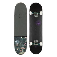 GLOBE SKATEBOARD COMPLETE - RAISED UP BLACK ON BLACK 7.75""