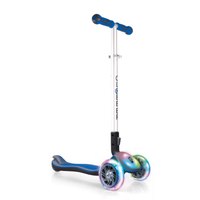 GLOBBER MY FREE FOLD UP SCOOTER 3 WHEEL - LED WHEELS + DECK - DARK BLUE