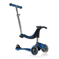 GLOBBER KIDS MINI KICK SCOOTER 3 WHEEL - BLUE - 4 IN 1 BIKE, TRIKE, SCOOTER