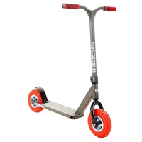 GRIT DIRT FLUXX COMPLETE SCOOTER - SATIN GREY RED - 2017 MODEL