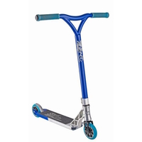 GRIT ELITE COMPLETE SCOOTER MY16/17 - SILVER / BLUE METALLIC - BONUS STAND