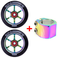 GRIT 110MM NEOCHROME WHEELS + NEOLITE CLAMP COMBO PACK