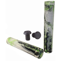 GRIT SCOOTER GRIPS - BLACK/ WHITE / GREEN