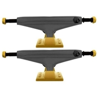 "INDUSTRIAL SKATEBOARD TRUCKS 5"" BLACK GOLD SET OF 2 TRUCKS"