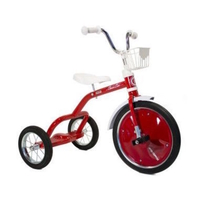 "ITALTRIKE COMPLETE - 16"" SPOKES TRICYCLE - CHAMPION - RED"