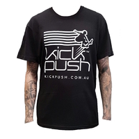 KICK PUSH LOGO T-SHIRT - ADULT SIZE SMALL BLACK