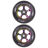 LUCKY ATOM 110MM SCOOTER WHEEL SET - NEOCHROME