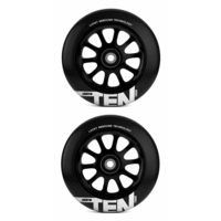 LUCKY TEN 110MM SCOOTER WHEEL SET - BLACK / BLACK