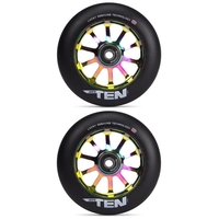 LUCKY TEN 120MM SCOOTER WHEEL SET - BLACK NEOCHROME