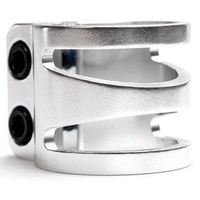 LUCKY SCOOTER DUB - DOUBLE BOLT CLAMP OVERSIZED - POLISHED