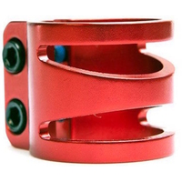 LUCKY SCOOTER DUB - DOUBLE BOLT CLAMP OVERSIZED - RED