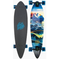 LANDYACHTZ LONGBOARD SKATEBOARD COMPLETE - BAMBOO TOTEM NARWHAL