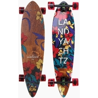 LANDYACHTZ LONGBOARD SKATEBOARD COMPLETE - MAPLE CHIEF FLORAL