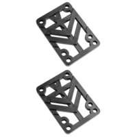MINI LOGO SKATEBOARD RISER PADS 1/4 PAIR BLACK