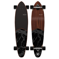 "OBFIVE DARK WATERS 38"" LONGBOARD SKATEBOARD COMPLETE"