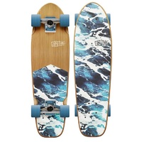 OBFIVE WHITE WASH CRUISER SKATEBOARD COMPLETE