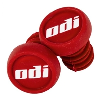 ODI BAR ENDS PLUGS - SOLD AS PAIRS - RED